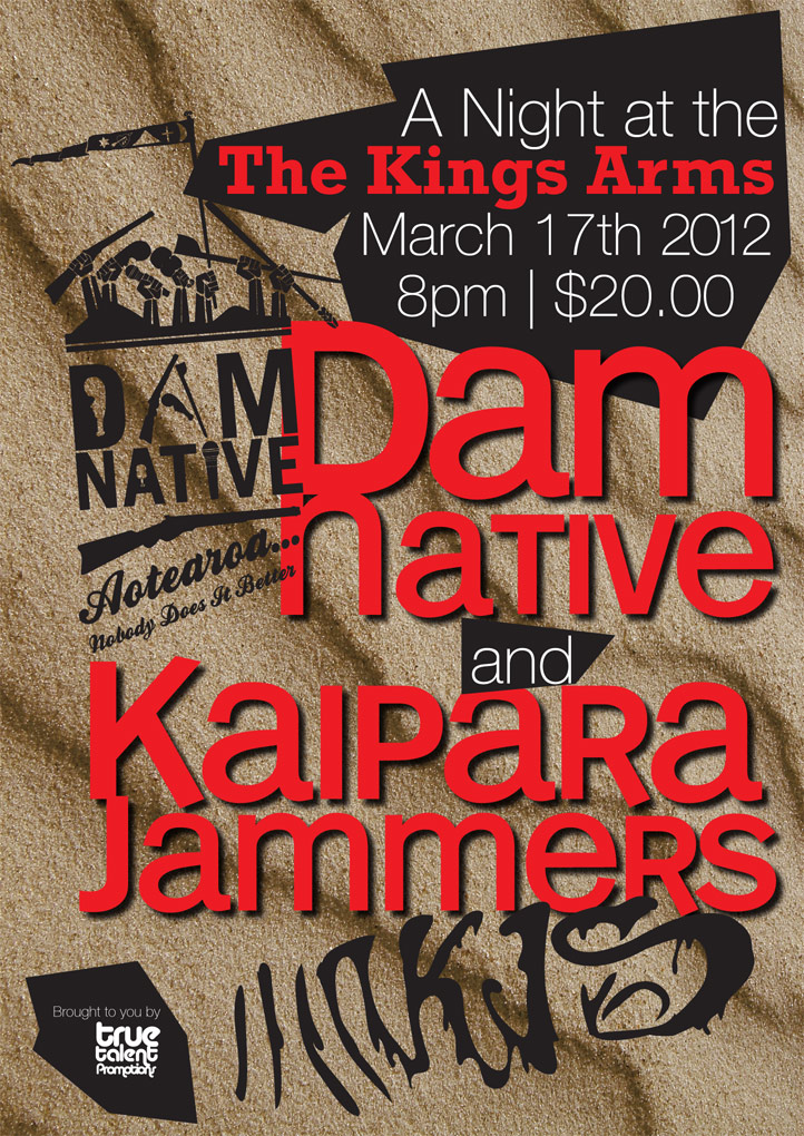 Dam Native, Kaipara Jammers @ Kings Arms