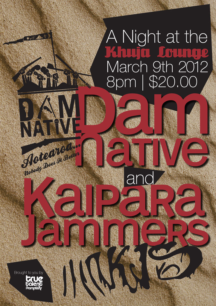 Dam Native, Kaipara Jammers @ Khuja