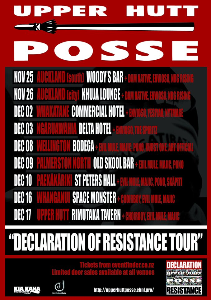 Upper Hutt Posse Declaration of Resistance Tour 2011